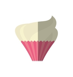cup cake love sweet delicious shadow vector image vector image