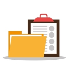 Files and documents vector image vector image