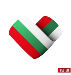 Flag icon in the form of heart I love Bulgaria vector image vector image