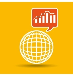 Global web network graphics statistics icon vector