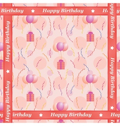 Happy Birthday pattern vector image vector image