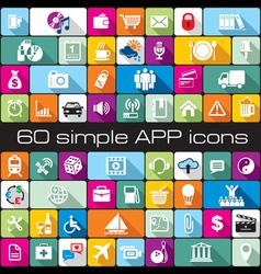 Icons app vector