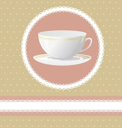 Invitation for tea time vector image vector image