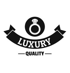 Jewelry quality logo simple black style vector