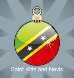 Nevis flag on bulb vector image vector image