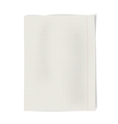 Notebook squared paper isolated on white vector image vector image