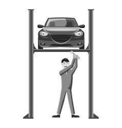 Repair machine icon gray monochrome style vector