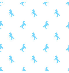 Seamless pattern with active horses vector