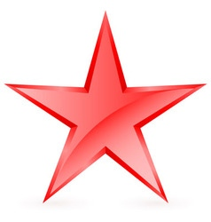 Shiny RED star 07 vector image vector image