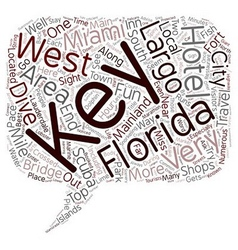 The florida keys text background wordcloud concept vector