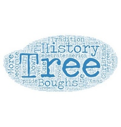 The History of Christmas Trees text background vector image vector image
