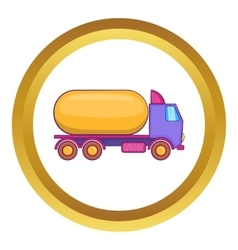 Truck carries petrol icon vector