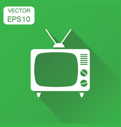 Tv icon business concept television pictogram on vector