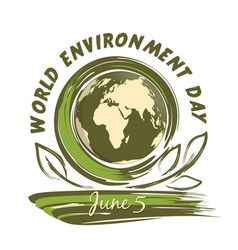 world environment day design 5 june vector image vector image
