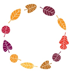 Wreath with colorful Autumn leaves vector image vector image