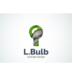 Light bulb logo template new idea energy or vector
