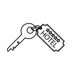 Room key at hotel icon outline style vector