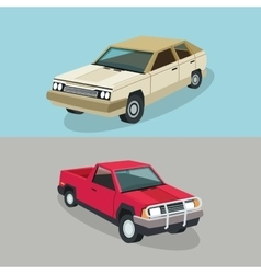 Auto garage car design vector