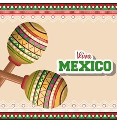 icon maracas mexican music graphic vector image