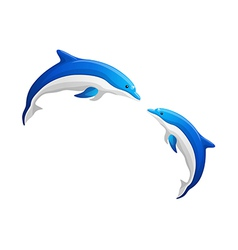 Icon dolphin vector