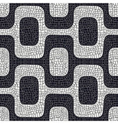 Black white pavement pattern vector
