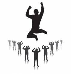 Winner jumping vector