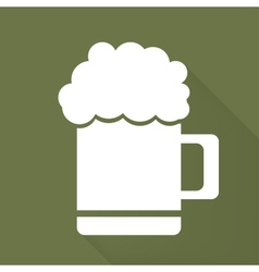 Glass of beer web icon vector