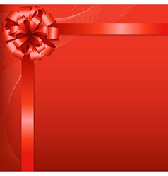 Red background with red bow vector