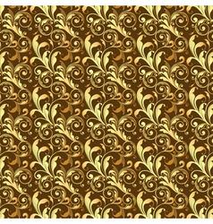 Seamless golden pattern vector