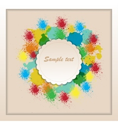 Frame of color paint spray vector