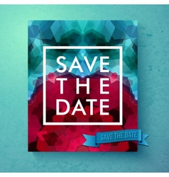 Bold simple save the date wedding template vector