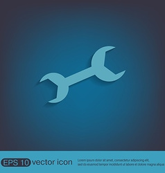 Wrench symbol settings vector