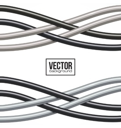 Black and gray cables background vector