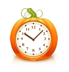 Pumpkin clock vector