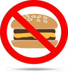 Ban fast food vector image