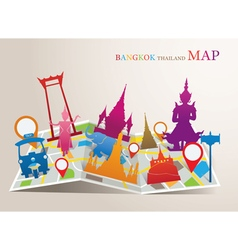 Thailand landmarks map vector