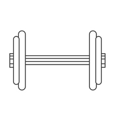 Single dumbbell icon vector