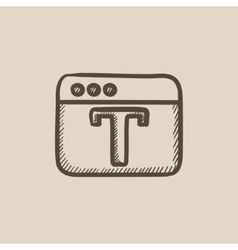 Design editor tool sketch icon vector