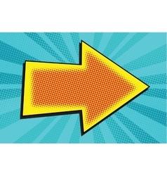 Arrow retro pop art vector