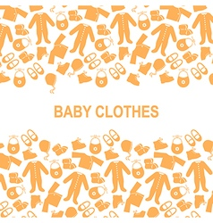Baby clothes back vector