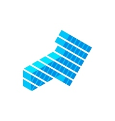 Blue arrow isometric 3d icon vector image vector image