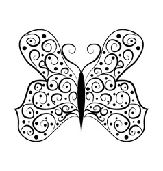 Butterfly tatoo abstract on white background vector image vector image