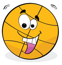 cartoon basketball vector image