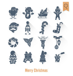 Christmas and winter icons collection vector