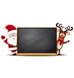 Christmas background rudolph reindeer and santa vector