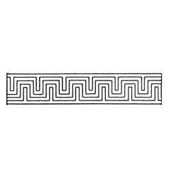 Double pattern fret band is a greek design vector