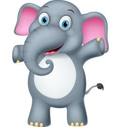 Happy elephant cartoon vector