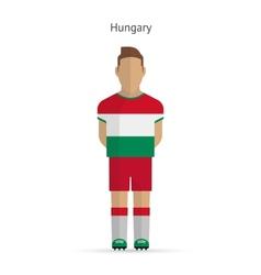 Hungary football player soccer uniform vector