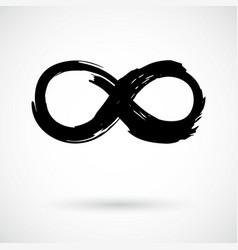 Infinity symbol grunge brush stroke vector