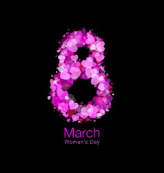 March 8 - womens day symbol greeting card template vector